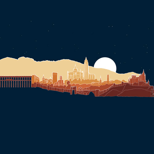 Spanish Skylines - Illustration
